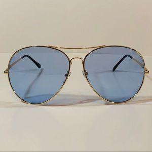 336a02977f8f Accessories - Oversize Blue Lens Aviator Sunglasses